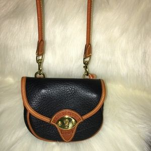 DOONEY & BOURKE Vntg MINI CAVALRY Belt X-Body Bag